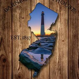 Barnegat Light New Jersey Map by Rick Berk