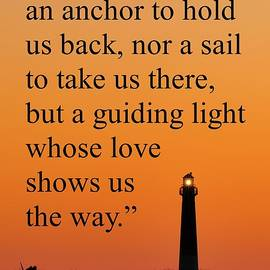 Terry DeLuco - Barnegat Lighthouse with Father Quote