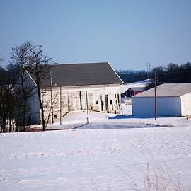 Barns in Snow by R A W M