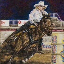 Barrel Racer by Laurie Tietjen