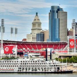 Baseball And Boats In Cincinnati by Mel Steinhauer