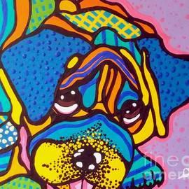 Bashful Bulldog Dogs Pet Lover Fun Colorful AnimalsDog Puppy by Jackie Carpenter
