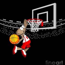 Daniel Ghioldi -  Basketball player jumping to hit the ball