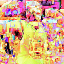 Wingsdomain Art and Photography - Basketball Power Flex in Abstract Cubism 20170328