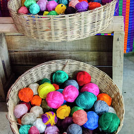 James Rabiolo - Baskets of Colorful Thread Balls