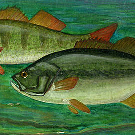 Bass and Perch by Anna Folkartanna Maciejewska-Dyba