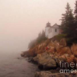 Elizabeth Dow - Bass Harbor Lighthouse Oil Pastel