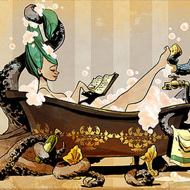 bath time with otto by Brian Kesinger