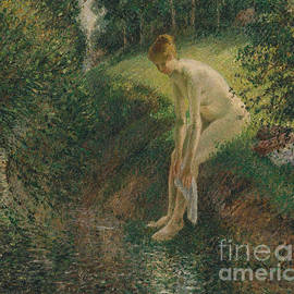 Bather in the Woods, 1895 - Camille Pissarro