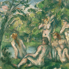 Bathers, 1883-1887 by Paul Cezanne