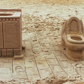 Bathroom Sand Sculpture by Colleen Kammerer