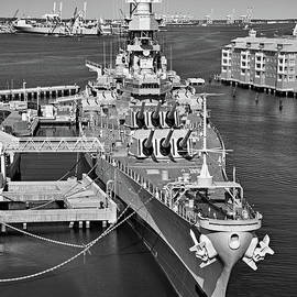 Battleship Wisconsin bw by Jerry Fornarotto