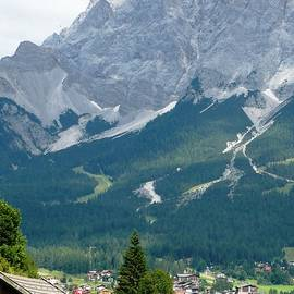 Bavarian Alps With Shed by Carol Groenen