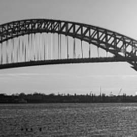 Michael Ver Sprill - Bayonne Bridge Panorama BW
