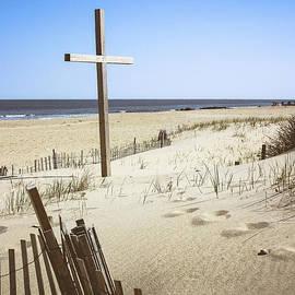 Colleen Kammerer - Beach Cross at Ocean Grove