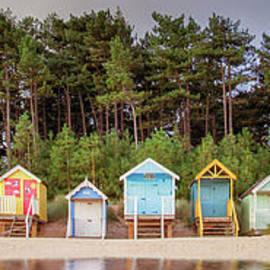 Beach hut row on the Norfolk coast by Simon Bratt Photography LRPS