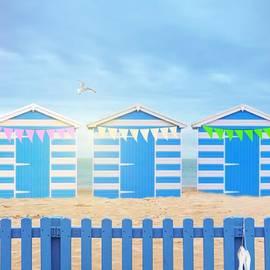 Beach Huts - Amanda Elwell