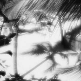 Anna Sopelniak - Beach in Dominicana. Lens - Monocle. BW