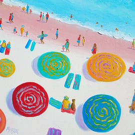 Beach Painting - A Walk in the Sun by Jan Matson