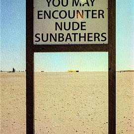 Joan Carroll - Beach Warning Sign