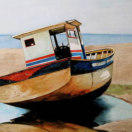 Beached Boat by Lillian Bell