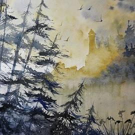 David K Myers - Beacon, Watercolor