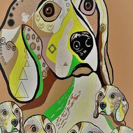 Eloise Schneider - Beagle and Babies Brown Tones