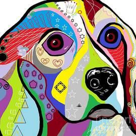 Beagle Close-Up by Eloise Schneider Mote