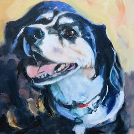Beagle Portrait by Donna Tuten