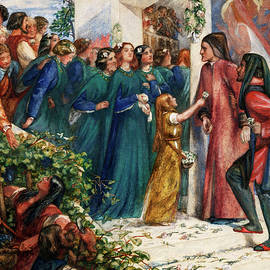 Dante Gabriel Rossetti - Beatrice meeting Dante at a marriage feast, denies him her salutation