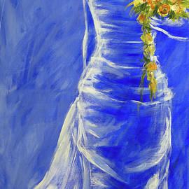 Beautiful bride acrylic painting by Karen Kaspar