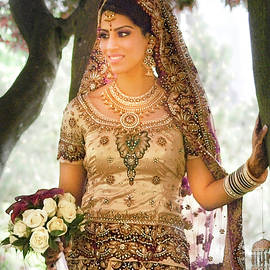 Beautiful East Indian Woman in traditional wedding dress