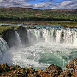 Beautiful Godafoss waterfall in Iceland by Patricia Hofmeester