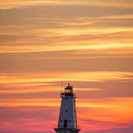 Adam Romanowicz - Beautiful Ludington Lighthouse Sunset