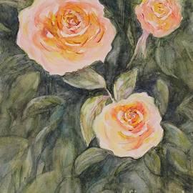 Beautiful roses in the garden by Olga Malamud-Pavlovich