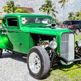 Beautifully Restored Green Hot Rod by Bob Slitzan