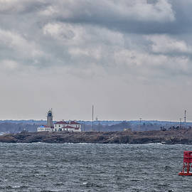 Beavertail Lighthouse From Across The Bay by Brian MacLean