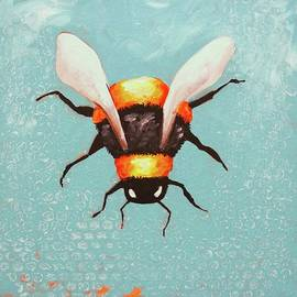 Bee Painting by Lucia Stewart