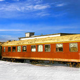 Belfast and Moosehead Railroad Cars in Winter - Olivier Le Queinec