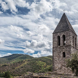 Maria Heyens - Bell tower of the old church, Olargues France