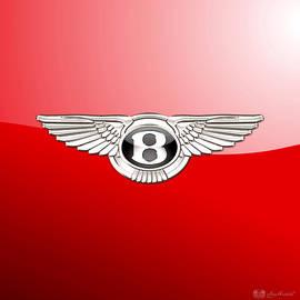 Bentley 3 D Badge on Red