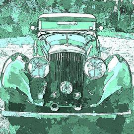 David King - Bentley Blue Green Pop Art P3