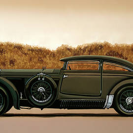 Paul Meijering - Bentley Blue Train 1930 Painting