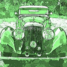 David King - Bentley Green Pop Art Triple