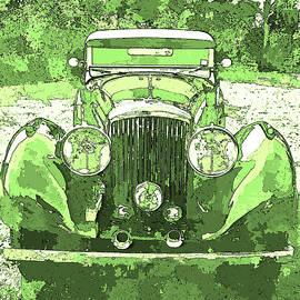 David King - Bentley Yellow Green Pop Art P1