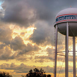Gregory Ballos - Bentonville Sunset Over the City Water Tower