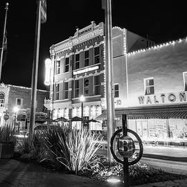 Gregory Ballos - Bentonville Town Square - Black and White
