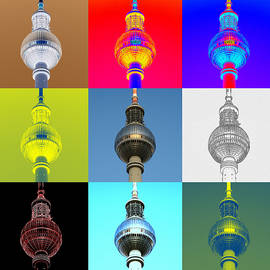 Berlin Television Tower collage