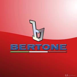 Bertone 3 D Badge on Red