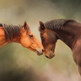 Michelle Wrighton - Best Friends - Two Horses